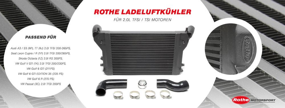Voll-Aluminium Ladeluftkühler für die VW Golf 5 und Golf 6 (PQ 35 und 36) Plattform!